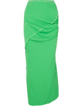 Asymmetric Crepe Maxi Skirt by Marni