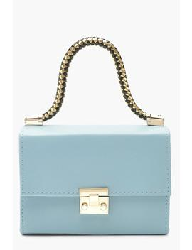 Twisted Handle Pu Mini Grab Bag by Boohoo