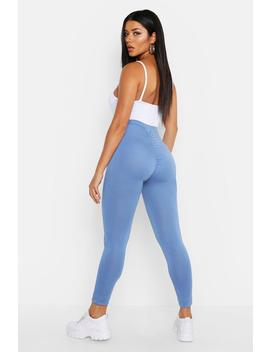 Ruched Bum Detail Jersey Legging by Boohoo