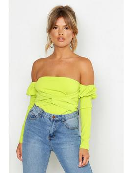 Off The Shoulder Puff Sleeve Top by Boohoo