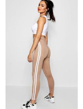 Basic Double Side Stripe Legging by Boohoo