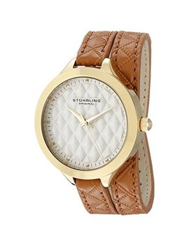 Women's 658.02 Vogue Beige Wrap Around Leather Strap Watch by Stuhrling