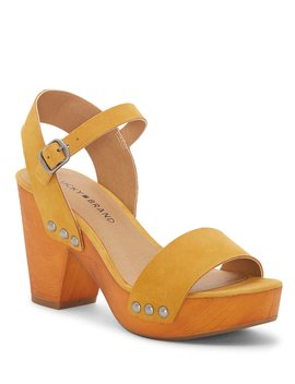 Trisa Leather Platform Sandals by Lucky Brand