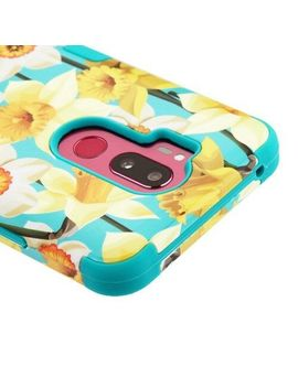 For Lg G7 Thinq Spring Daffodils Tuff Shockproof 3 Piece Rubber Case Cover by Ebay Seller