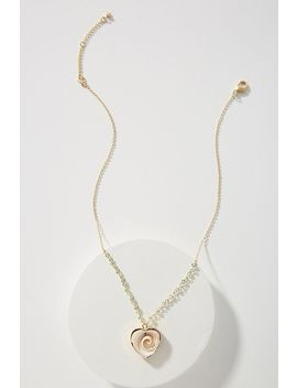 Heart Of The Ocean Pendant Necklace by Anthropologie