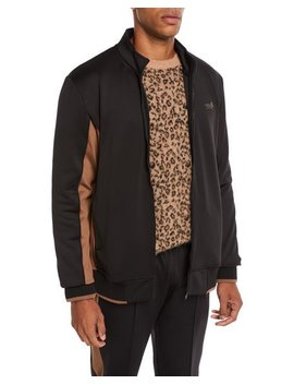 Men's Leopard Applique Zip Front Jacket by Ovadia & Sons