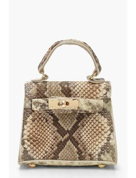 Snake Micro Mini Grab Bag by Boohoo