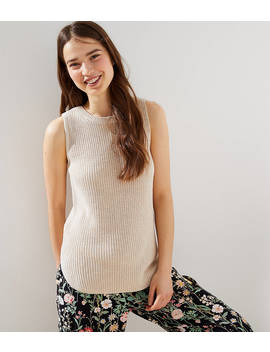 Petite Ribbed Sleeveless Sweater by Loft