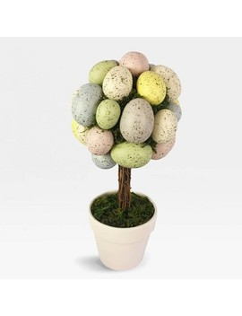 "13.5"" X 6.5"" Easter Egg Topiary Arrangement In Pot   Threshold by Threshold"
