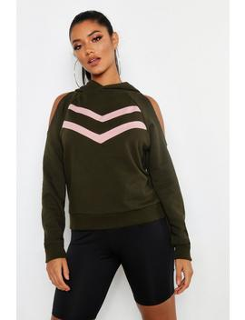 Cold Shoulder Sweat Top by Boohoo