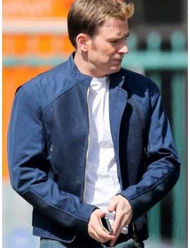 Captain America Steve Rogers Blue Cotton Jacket   All Sizes + Free Shipping by Ebay Seller