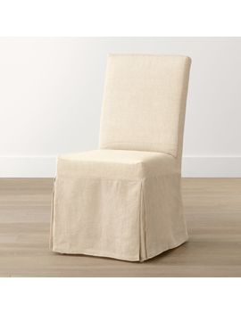 Slip Linen Slipcovered Dining Chair by Crate&Barrel