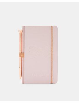 Mini Notizbuch Mit Stift Und Schleifendesign by Ted Baker