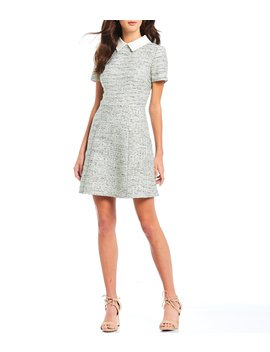 Tatum Collared Tweed A Line Dress by Gal Meets Glam Collection