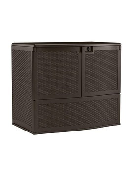Suncast 195 Gallon Backyard Patio Oasis Storage And Entertaining Station, Java by Suncast
