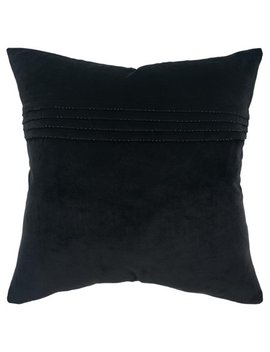 "Rizzy Home Decorative Downfilled Throw Pillow Solid 20""X20"" Black by Rizzy Home"