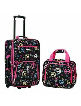Rockland Luggage 2 Piece Printed Luggage Set, Peace, Medium by Rockland