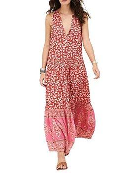 R.Vivimos Women's Summer Sleeveless Floral Print Button Up Bohemian Flowy Maxi Dresses by R.Vivimos