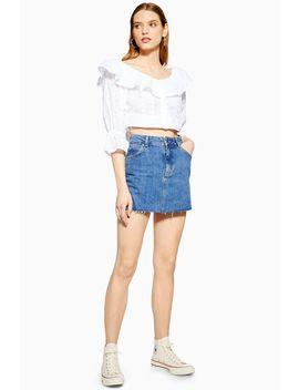 Petite Dark Denim Skirt by Topshop