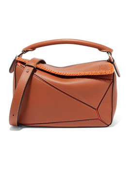 + Paula's Ibiza Puzzle Whipstitched Leather Shoulder Bag by Loewe