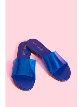 Clear Slide Sandal by A'gaci