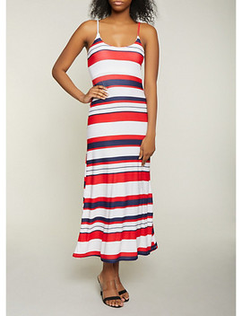 Striped Cami Maxi Dress by Rainbow