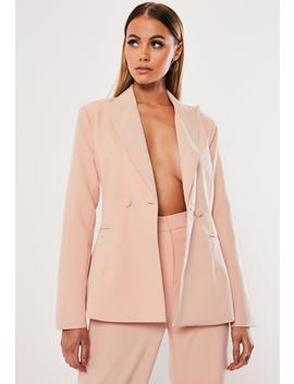 Stone Co Ord Fitted Blazer by Missguided