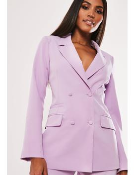 Lilac Co Ord Double Breasted Blazer by Missguided