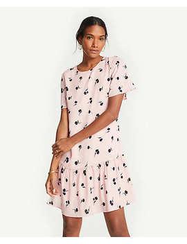 Petite Floral Flounce Hem Shift Dress by Ann Taylor