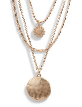 Sunburst Multistrand Necklace by Treasure & Bond
