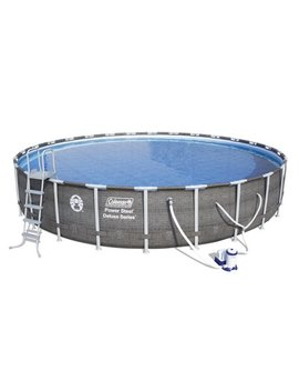 "Coleman Power Steel™ 26' X 52"" Deluxe Series Pool Set With Pump, Ladder And Cover by Coleman"
