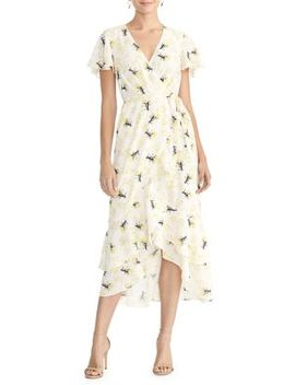Tallulah Printed Wrap Midi Dress by Rachel Rachel Roy