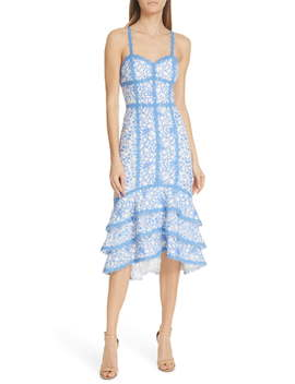 Diane Tiered High/Low Dress by Alice + Olivia