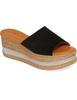Barbara Wedge Slide Sandal by Cordani