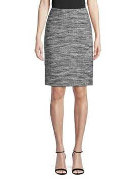 Textured Tweed Skirt by Karl Lagerfeld Paris