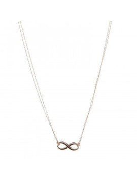 Tiffany 18 K Rose Gold Infinity Pendant Necklace by Tiffany