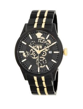 Two Tone Stainless Steel Bracelet Watch by Versace