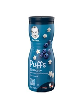 Gerber Puffs Blueberry   1.48oz by 1.48oz