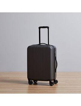 West Elm Hardside Spinner Luggage   Black by West Elm
