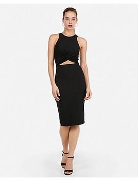Twist Front Cut Out Sheath Dress by Express