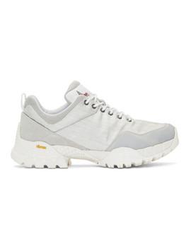 Silver Oblique Sneakers by Roa