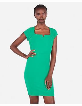 Square Notch Neck Sheath Dress by Express
