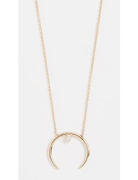 14k Gold Horn Necklace by Zoe Chicco