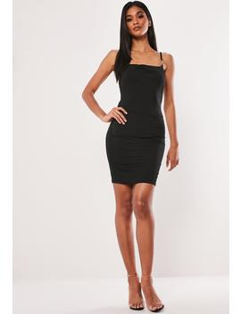 Black Slinky Cowl Ring Detail Mini Dress by Missguided