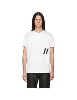 White Masc Little T Shirt by Helmut Lang