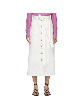 White Denim Fluid Skirt by See By ChloÉ