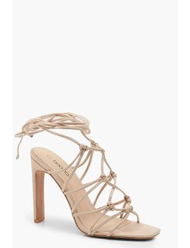 Caged Front Flat Heel Sandals by Boohoo