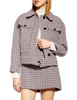 Dixie Textured Bouclé Jacket by Topshop