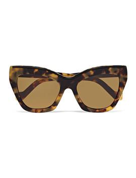 Cat Eye Tortoiseshell Acetate Sunglasses by Loewe