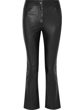 Avery Cropped Leather Flared Pants by Stand